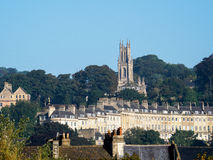 浴, SOMERSET/UK - 10月02日:圣斯蒂芬的教会看法  库存图片