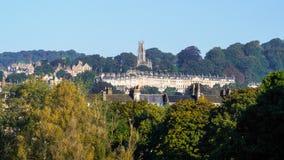 浴, SOMERSET/UK - 10月02日:圣斯蒂芬的教会看法  图库摄影
