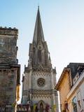 浴, SOMERSET/UK - 10月02日:圣迈克尔的教会尖顶  免版税图库摄影