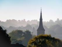 浴, SOMERSET/UK - 10月02日:圣马修的教会看法  免版税库存图片