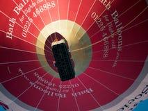 浴, SOMERSET/UK - 10月02日:飞行在棒的热空气气球 免版税库存图片