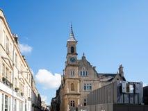 浴, SOMERSET/UK - 10月02日:Bluecoat议院看法在巴恩 图库摄影