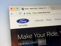 :万维网官员主页  浅滩 com -福特汽车 免版税库存照片