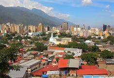 :街市加拉加斯-委内瑞拉的地平线 免版税图库摄影
