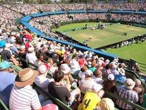 :戴维斯杯领带澳大利亚对Kooyong草地网球运动俱乐部的美国 图库摄影