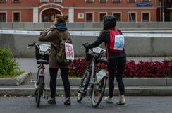2016年 09 25 :IV莫斯科马拉松 第36个km马拉松距离 库存图片