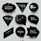?时尚销售被设置的讲话泡影 免版税库存图片