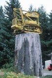 读�唐Zepp记录和Construction�的符号 库存照片