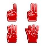 Δάχτυλα αφρού Στοκ Φωτογραφία