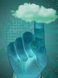 Δάχτυλο σχετικά με το σύννεφο Στοκ φωτογραφία με δικαίωμα ελεύθερης χρήσης