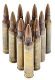Απομονωμένος 5.56 σφαίρες Στοκ Εικόνες