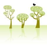 δέντρα άνοιξη Στοκ εικόνα με δικαίωμα ελεύθερης χρήσης