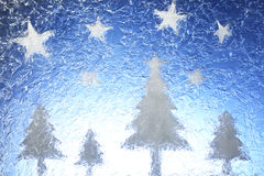 δέντρα αστεριών Χριστουγέ& Στοκ Εικόνες