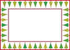 δέντρα πλαισίων Χριστουγέ& Στοκ Εικόνα