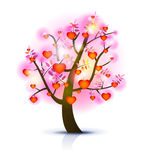 δέντρο απεικόνισης καρδιών Στοκ Εικόνες