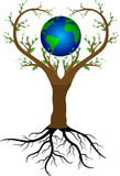 Δέντρο και πλανήτης Γη αγάπης Στοκ εικόνες με δικαίωμα ελεύθερης χρήσης