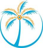 δέντρο λογότυπων καρύδων Στοκ εικόνα με δικαίωμα ελεύθερης χρήσης