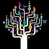 δέντρο πουλιών διάφορο Στοκ εικόνες με δικαίωμα ελεύθερης χρήσης