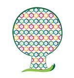 Δέντρο που γεμίζουν με hexagons τις μορφές Στοκ εικόνα με δικαίωμα ελεύθερης χρήσης