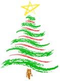 δέντρο σκίτσων Χριστουγέν& Στοκ εικόνες με δικαίωμα ελεύθερης χρήσης