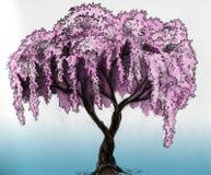 δέντρο σκίτσων sakura μολυβιών Στοκ φωτογραφία με δικαίωμα ελεύθερης χρήσης