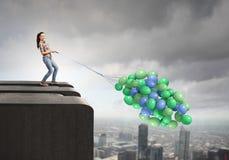 Δέσμη των μπαλονιών Στοκ Φωτογραφίες
