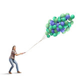 Δέσμη των μπαλονιών Στοκ Εικόνα