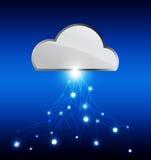 Δίκτυο τεχνολογίας σύννεφων Στοκ φωτογραφία με δικαίωμα ελεύθερης χρήσης