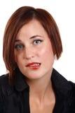 δαγκώνοντας χείλι Στοκ φωτογραφία με δικαίωμα ελεύθερης χρήσης