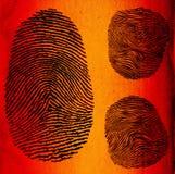 δακτυλικά αποτυπώματα Στοκ Φωτογραφίες