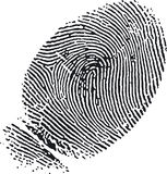 δακτυλικό αποτύπωμα 7 Στοκ Εικόνα