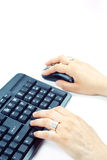 δακτυλογράφηση πληκτρ&omicron Στοκ εικόνες με δικαίωμα ελεύθερης χρήσης