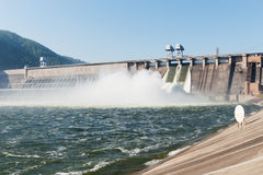 Σταθμός υδροηλεκτρικής παραγωγής ηλεκτρικού ρεύματος Στοκ εικόνες με δικαίωμα ελεύθερης χρήσης