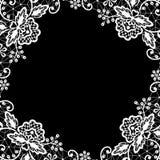 Δαντέλλα στο μαύρο υπόβαθρο Στοκ Φωτογραφίες