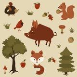 Δασική απεικόνιση ζώων Στοκ φωτογραφία με δικαίωμα ελεύθερης χρήσης