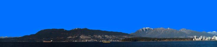 δασικό ύδωρ πανοράματος β&om Στοκ Φωτογραφίες
