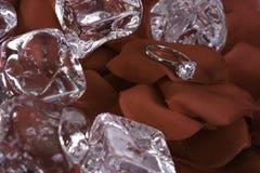 δαχτυλίδι αρραβώνων διαμαντιών Στοκ Εικόνα