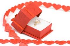 δαχτυλίδι αρραβώνων διαμαντιών Στοκ Φωτογραφίες