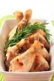 δεντρολίβανο τυμπανόξυλων κοτόπουλου Στοκ Εικόνες