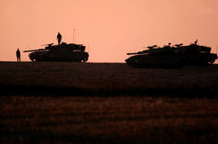 Δεξαμενές στρατού του Ισραήλ Στοκ Εικόνες