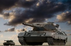 δεξαμενή μάχης Στοκ φωτογραφία με δικαίωμα ελεύθερης χρήσης