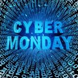 Δευτέρα Cyber Στοκ εικόνα με δικαίωμα ελεύθερης χρήσης