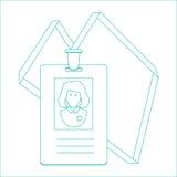 Δελτίο ταυτότητας του προσώπου, διακριτικό, ταυτότητα σχεδιάστε τη γραμμή Στοκ φωτογραφία με δικαίωμα ελεύθερης χρήσης