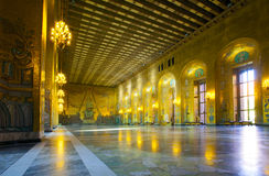 Δημαρχείο, το χρυσό δωμάτιο Στοκ φωτογραφίες με δικαίωμα ελεύθερης χρήσης
