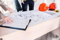Δημιουργία του αρχιτεκτονικού σχεδίου Στοκ Εικόνες