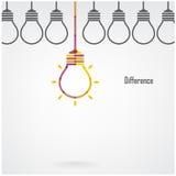 Δημιουργικό υπόβαθρο έννοιας ιδέας διαφοράς λαμπών φωτός Στοκ Εικόνα
