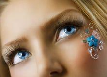 δημιουργικό floral makeup Στοκ εικόνα με δικαίωμα ελεύθερης χρήσης