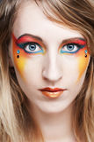δημιουργικό makeup Στοκ Φωτογραφία