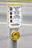 διάβαση πεζών κουμπιών Στοκ εικόνα με δικαίωμα ελεύθερης χρήσης