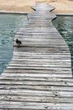 Διάβαση πεζών πέρα από το νερό Στοκ εικόνες με δικαίωμα ελεύθερης χρήσης